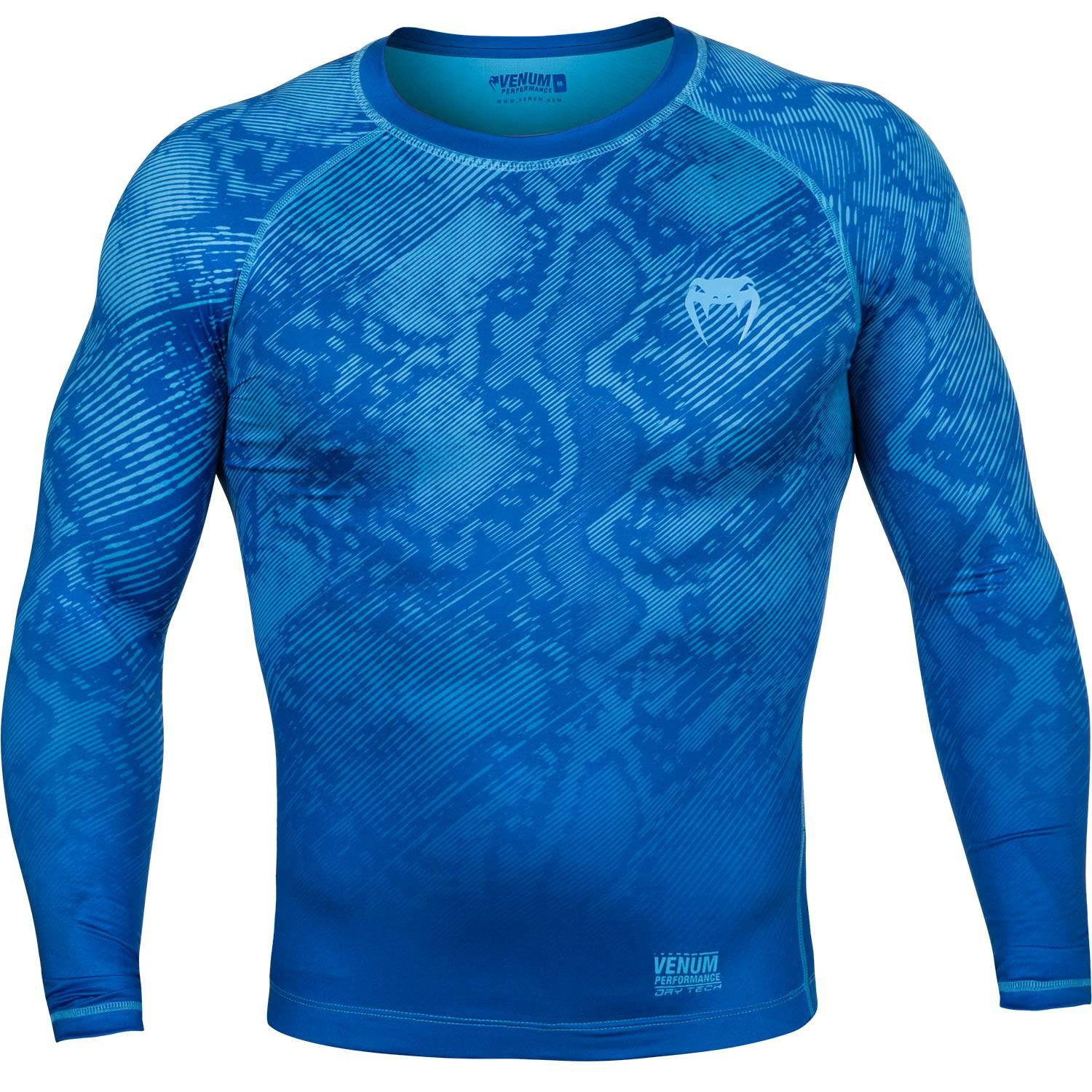 Компрессионная футболка Venum Fusion Compression T-shirt - Long Sleeves - Blue
