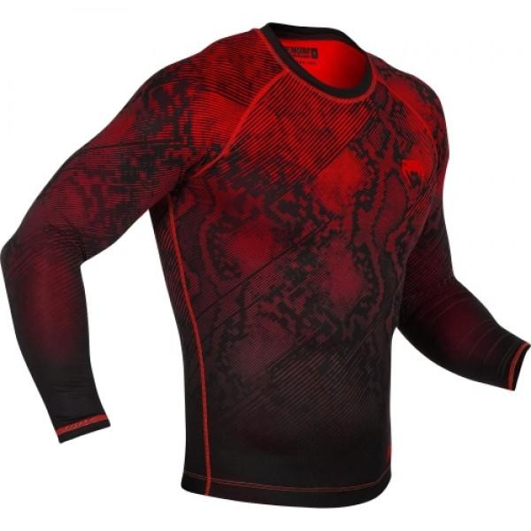 Venum Fusion Compression T-shirt - Long Sleeves - Black/Red