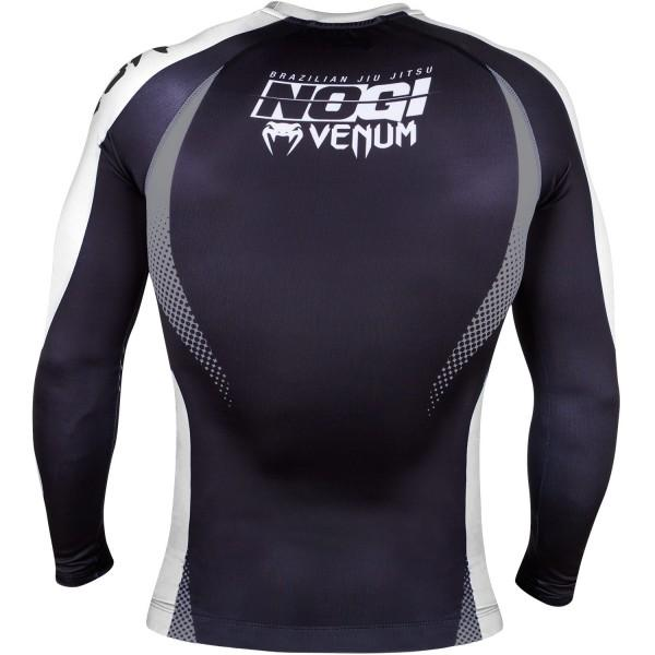 Рашгард с длинным рукавом Venum No GI Rash Guard IBJJF Approved - Black/White