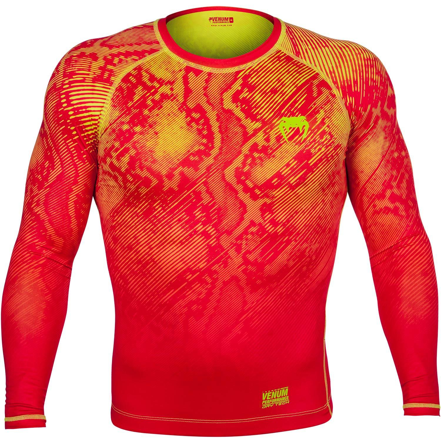 Venum Fusion Compression T-shirt - Black Red Long Sleeves