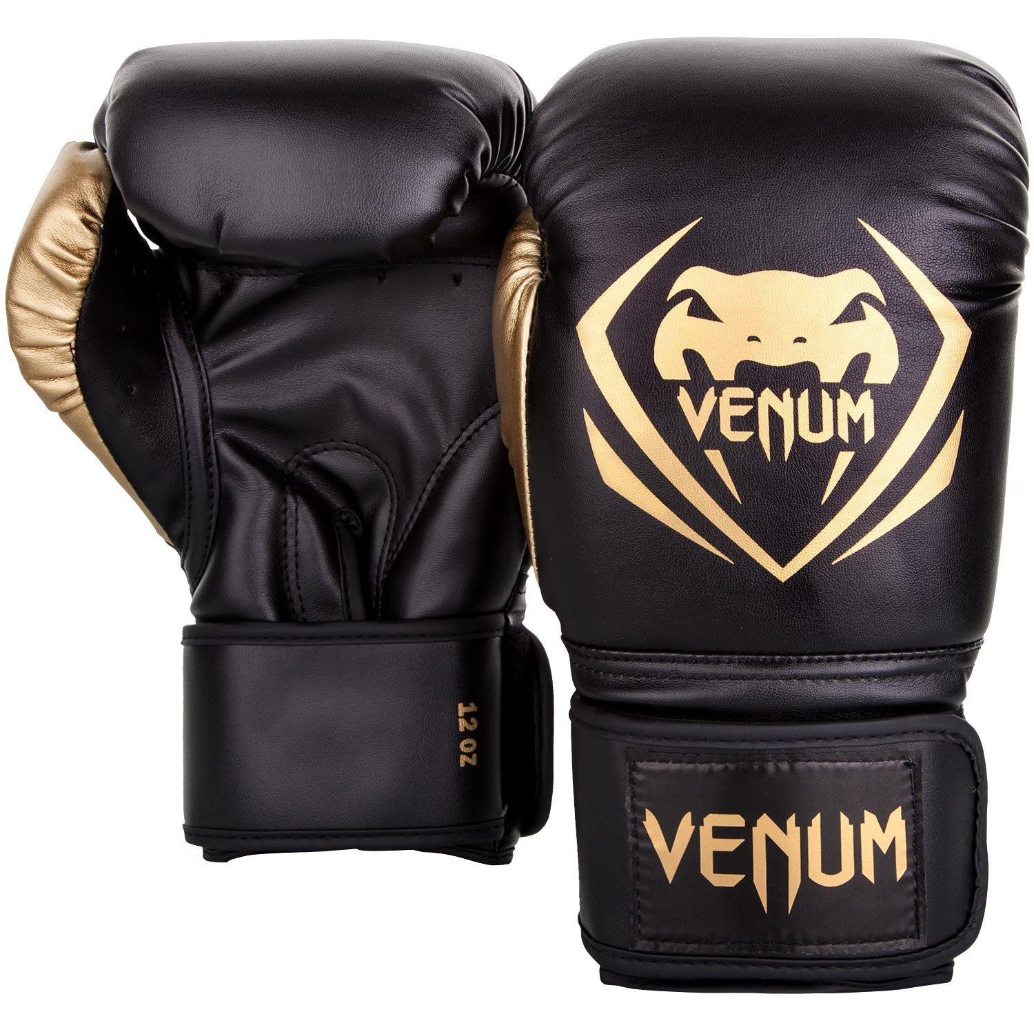 Боксерские перчатки Venum Contender Boxing Gloves- Black/Gold